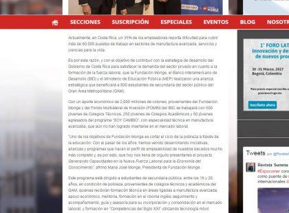 23 03 17 Revista Summa Fundaci¢n Monge BID y MEP se al°an para impulsar...